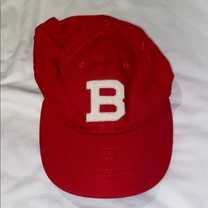 Hat with b on it